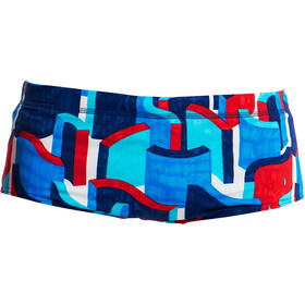 Funky Trunks Classic Zwemslip Jongens, block rock